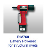 RIV760 Battery Powered for structural rivets